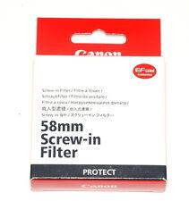 Canon regular protezione filtro Protect 58mm filteranschluß (Nuovo/Scatola Originale)