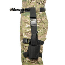 Left Hand Pistol Drop Leg Holster Bag Pouch for Wargame Paintball Belt Black
