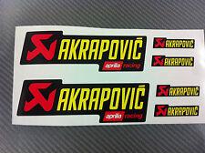 6 Adesivi Stickers AKRAPOVIC Aprilia resistente al calore