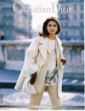 PUBLICITE ADVERTISING 015  1992  DIOR collection coordonnées manteau veste