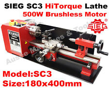 SIEG SC3 SC2 L 180x400mm HiTorque Bench Lathe with Auto Feed Super C3