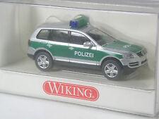 selten: Wiking VW Touareg Polizei silber-grün in OVP