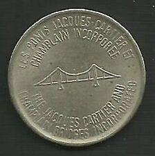 Vintage Jacques Cartier Champlain Bridge Transit Token