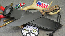 TREEMAN T.A.S.S. NAVY SEAL TEAM XL COMBAT KNIFE WITH TREEMAN LEATHER SHEATH