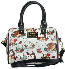 Loungefly Disney Beauty and the Beast Belle Character Tattoo Crossbody Bag Purse