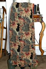 MIRASOL MUTED TAPESTRY FLORAL TRAVELER KNIT SKIRT SZ M