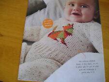 KNITTING PATTERN FOR BABIES FOX CUB PLAY SUIT.
