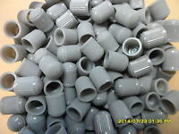 100 x  Grey  Plastic Car, Tube & Cycles Valve Dust Cap Brand New In Packet