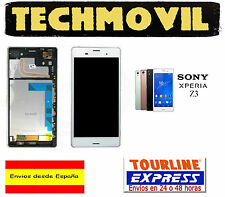 PANTALLA DISPLAY LCD + MARCO COMPLETO SONY XPERIA Z3 BLANCO D6603 D6616 D6643