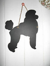 Grand caniche forme chalk board blackboard anniversaire noël pet puppy chien c