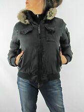 CAT Caterpillar Insulated Women's Black Jacket with Hood Size Small  M1A