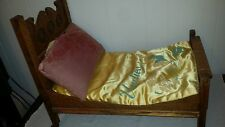 Rare Victorian 1890's Oak Toy Doll's Bed Salesman's Sample