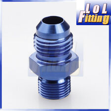 AN3 -3AN to 1/8'' NPT Straight Adapter Pipe Fuel Oil Air Fitting Blue Color