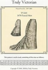 Schnittmuster Truly Victorian TV 225: 1878 Fantail Skirt