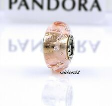 791615CZ - *RETIRED* NEW AUTH PANDORA MURANO GLASS PINK EFFERVESCENCE W/CLEAR CZ