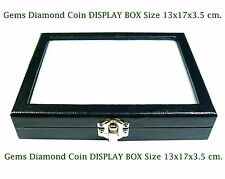 TOP GLASS DISPLAY BOX 13x17 cm. SHOW JEWELRY JAR GEMS STONE DIAMOND COIN No.#12