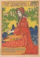 A4 photo rhead Louis 1858 1926 le quartier latin c1893 imprimé Poster