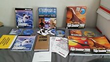 Lot of 3 Microsoft Flight StimulatorWindows 95, 2000 Ultimate Fligh 3 PC Big Box