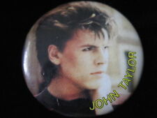 Duran Duran-John Taylor-Face with Name-Pin-Badge-Button-80's Vintage-Rare