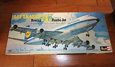 1/144 LUFTHANSA 747 CUTAWAY SHOWOFF MODEL B747 by REVELL JAPAN 1974 RELEASE