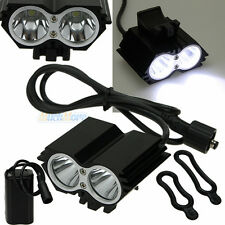 5000 Lumens 2x CREE XM-L U2 LED Cycling Bike Bicycle Light Headlamp HeadLight US