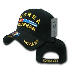 Black Korea Korean War Veteran Vet Military Adjustable Baseball Ball Cap Hat