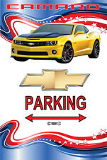 Parking Sign - Chevy Yellow Camaro 2013 American Stars and Stripes Look