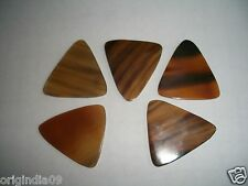 "5 pc Buffalo Horn  guitar picks Honey mix  color 1.3/4 x 1.3/4x 0.090""(2.3 mm)"