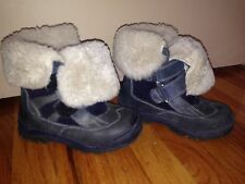 EUROPEAN LEATHER BEAVER LAMB KIDS BOY YOUTH WINTER BOOTS SHOES SIZE 9-9.5 US