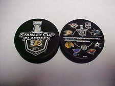 2016 NHL Anaheim Ducks Stanley Cup Playoffs Hockey Two Puck Souvenir Pack