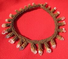 Very Unusual Dani Tribe Shaman's Necklace With 25 Quartz Crystals
