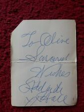ADELAIDE HALL JAZZ SINGER AUTOGRAPH