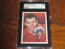 EMILE BOUCHARD AUTOGRAPHED 1987 HOCKEY HOF CARD-SGC SLAB-ENCAPSULATED