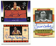 Pat Riley Elgin Baylor James Worthy AUTO Los Angeles Lakers LOT 3 Rare Cards NBA