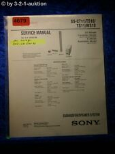 Sony Service Manual SS CT11 /TS10 /TS11 /WS10 Speaker System (#4679)