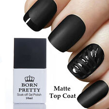 10ml Born Pretty Nail No-Wipe Matte Top Coat Gel Polish Nail Art UV Gel Soak Off