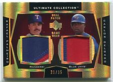 2003 Ultimate Collection Gold DP Carlos Delgado Rafael Palmeiro Dual Patch 21/35