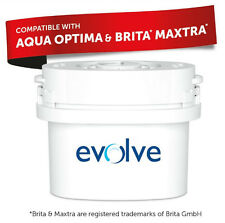 Aqua Optima Evolve Double life 60-Day Water Filter Also Fits Brita Maxtra