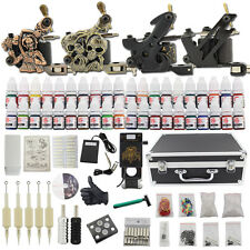 Professional Complete Tattoo Kit 4 Top Machine Gun 40 Ink 50 Needle Power Supply