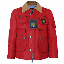 DSQUARED2 $980 red oiled waxed cotton coat dsquared BooBou field jacket 40 NEW