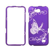 For ZTE Overture 2 Z812 Grey Butterfly Purple Plane Case Hard Cover