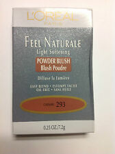 L'OREAL FEEL NATURALE LIGHT SOFTENING POWDER BLUSH ( CARAMEL ) NEW.