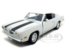 1969 PLYMOUTH BARRACUDA 383 WHITE 1:18 DIECAST MODEL BY ROAD SIGNATURE 92179