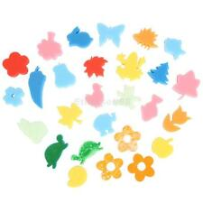 24pcs Mixed Foam Animals Flowers Shape Stamps Stamper Kids DIY Craft Painting