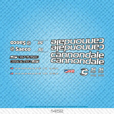 Cannondale bicyclette decals-transfers-autocollants-noir et blanc-set 1452