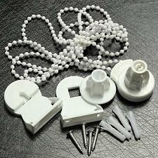 White Roller Blind Shade Cluth Bracket Bead Chain Repair Parts Set for 25mm Tube