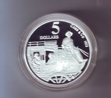 1995 SILVER Proof $5 Cobb & Co 1853 Coach Horse Drawn Transport Masterpieces