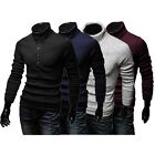 New Casual Mens Slim Fit Pullover Warm Sweater Coat Turtleneck Knitwear