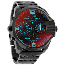 Diesel Uber Chief Black Dial Mens Dual Time Watch DZ7373