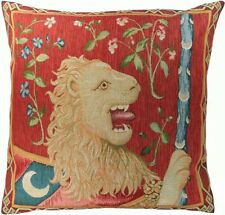 Set of 2 - French Tapestry Cushions - Le Lion